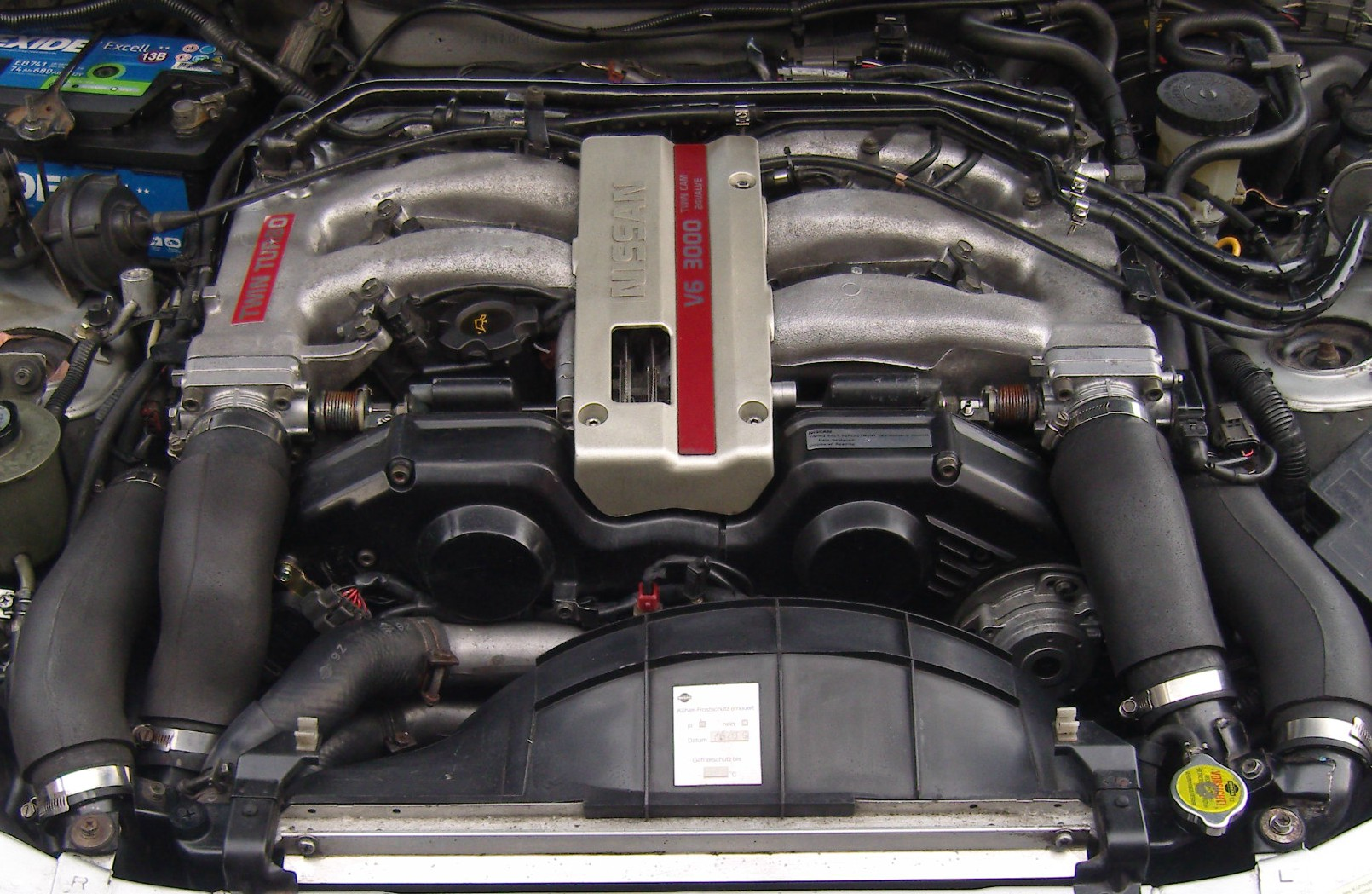 Vg30dett Custom Intake Manifold Nissan Z32 Wiring Factory Note Throttle Bodies And Linkages Pushed Back From Timing Belt Covers